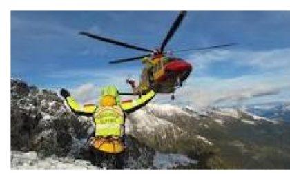 Giussano, bloccato su una cascata di ghiaccio, giussanese salvato dal soccorso alpino