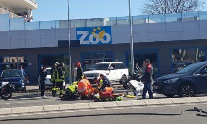 Giussano, incidente in via Prealpi: scontro tra moto e auto