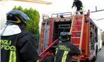 Veduggio, furgone in fiamme sulla Valassina
