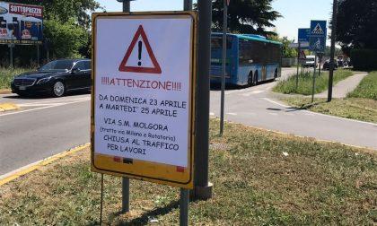 Vimercate: via S. Maria Molgora chiusa al traffico
