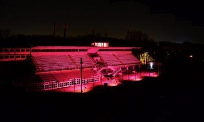 In Autodromo la Tribuna centrale si illumina di rosa per il Giro d'Italia