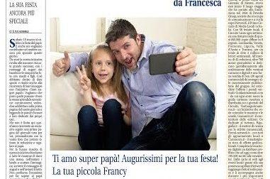 Inviateci messaggi e fotografie  per fare gli auguri al vostro papà