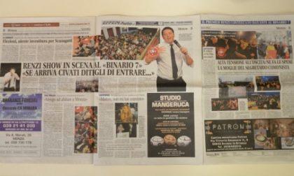 "Monza, Renzi show in scena al ""Binario 7"""