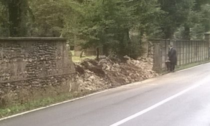Paura ad Arcore, crolla il muro di Villa Cazzola