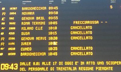 Sciopero dei treni, venerdì nero per i pendolari