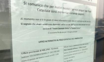 Vimercate: chiude a sorpresa il Polo catastale del Vimercatese