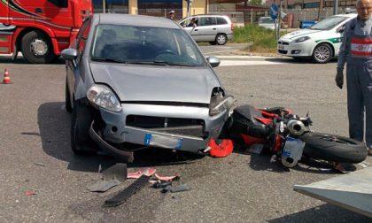 Vimercate: motociclista schiacciato da un'auto