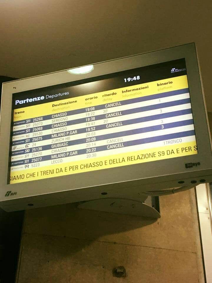 Grave incidente alla stazione di Lissone