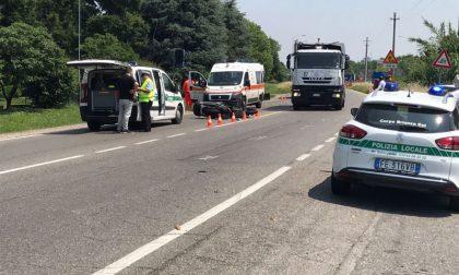 Bellusco: incidente lungo la provinciale. Grave un 54enne VIDEO