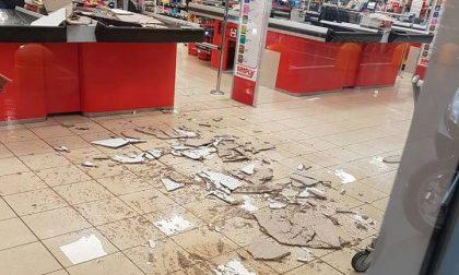 Lissone, supermercato: crolla controsoffitto al Simply di via Di Vittorio