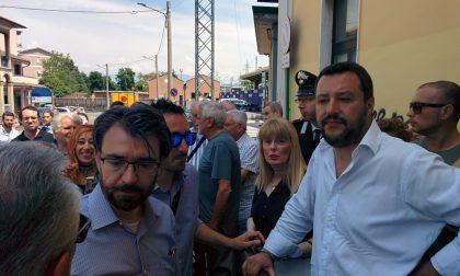 Salvini a Carnate visita la stazione e il quartiere VIDEO