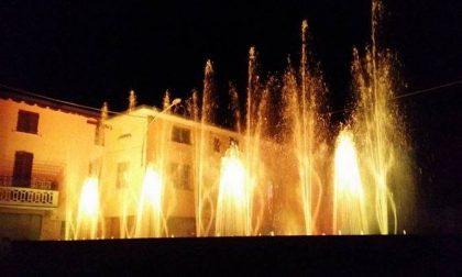 Agrate: fontane danzanti in piazza