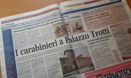 Vimercate, caso Grossi: carabinieri a Palazzo Trotti