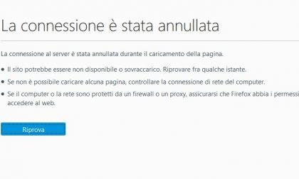 Internet ko, il sito del Comune di Monza è fuori servizio da questa mattina
