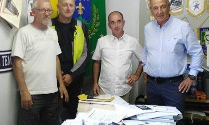 Besana Brianza, il sindaco in visita ad Accumoli