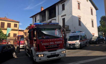 Carate: incendio in una abitazione in via Volta- IL VIDEO