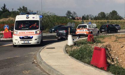 Bellusco: perde il controllo del motorino , ferito 47enne
