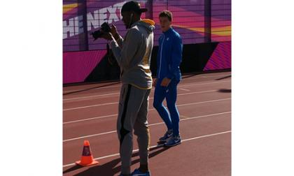 Mondiali Londra: Filippo Tortu incontra Bolt. Stasera la gara