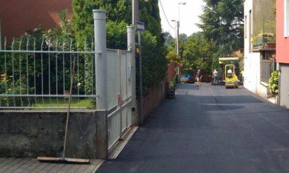 Triuggio, lavori di asfaltatura sul territorio