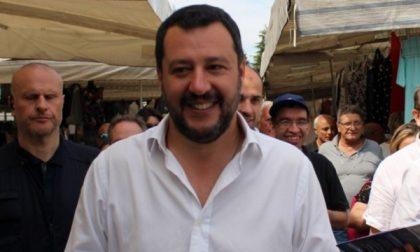 Matteo Salvini a Vimercate per sostenere Sala