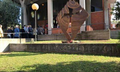 Lissone, un nuovo monumento davanti alla chiesa di San Giuseppe Artigiano