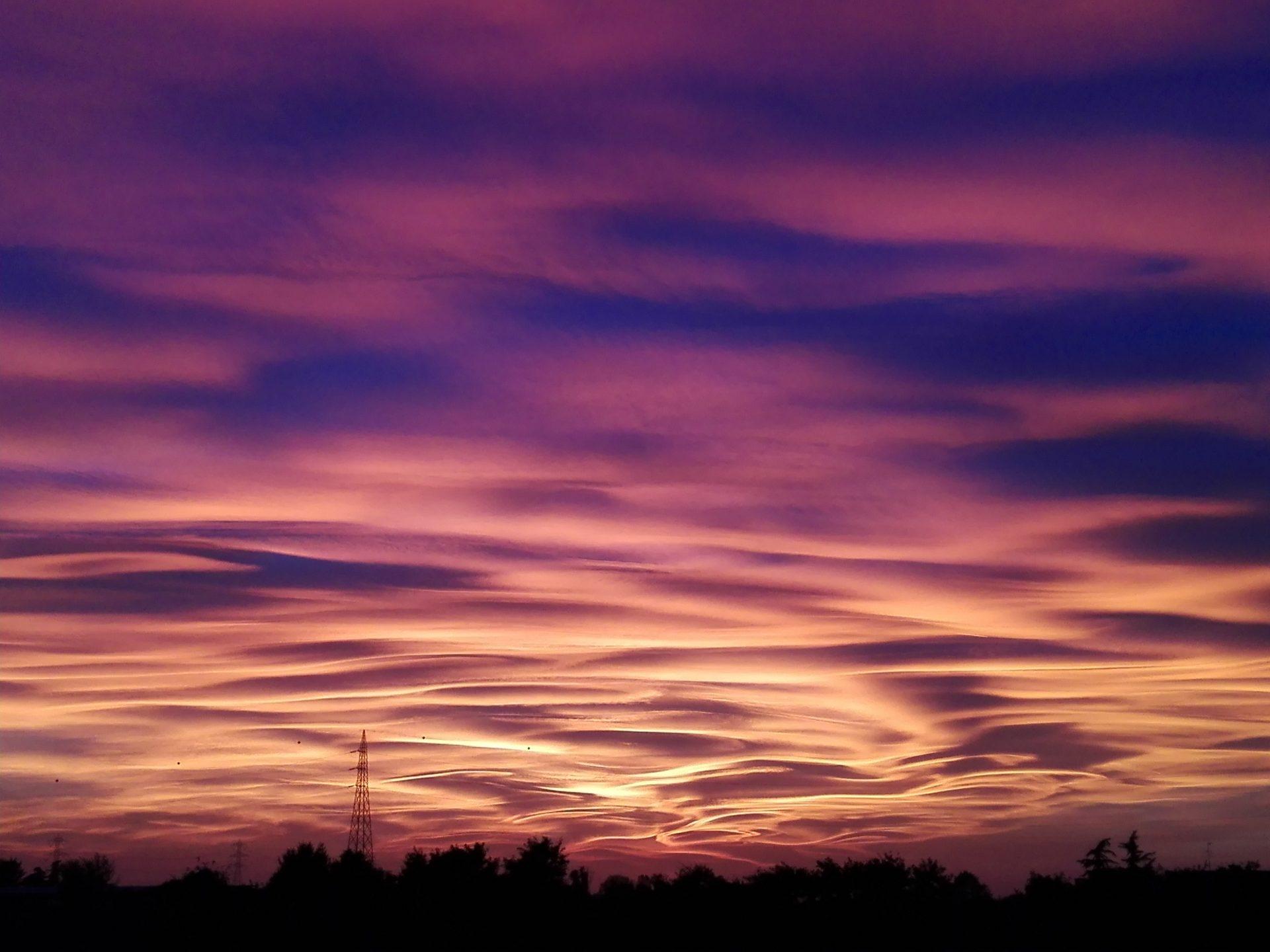 Lo spettacolo della natura nel cielo brianzolo