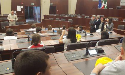 I bimbi della primaria di Renate in Consiglio regionale