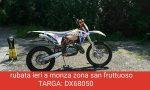 Due moto rubate in pieno giorno in via Baradello