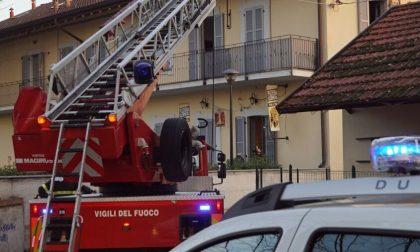 In fiamme tetto in via San Vittore