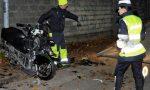Violento schianto contro un muro a Limbiate, paura per un motociclista (VIDEO)