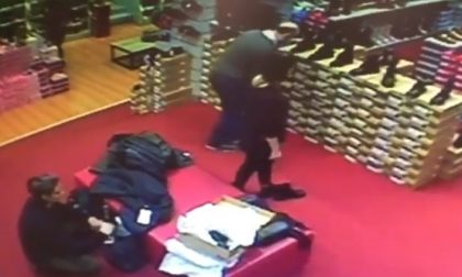 Ladre di scarpe: il video finisce on line