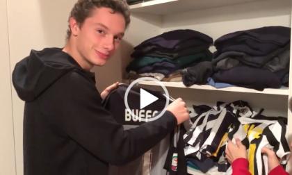 Napoli Juventus Filippo Tortu sfoggia la collezione bianconera