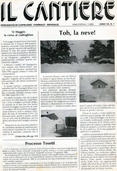 gennaio 1985: la nevicata del secolo