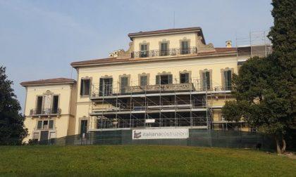 Giorgio Gori in visita alla Villa Borromeo