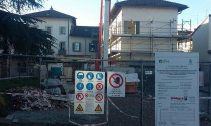 Finirà in autunno il cantiere di recupero di Palazzo Arese Jacini