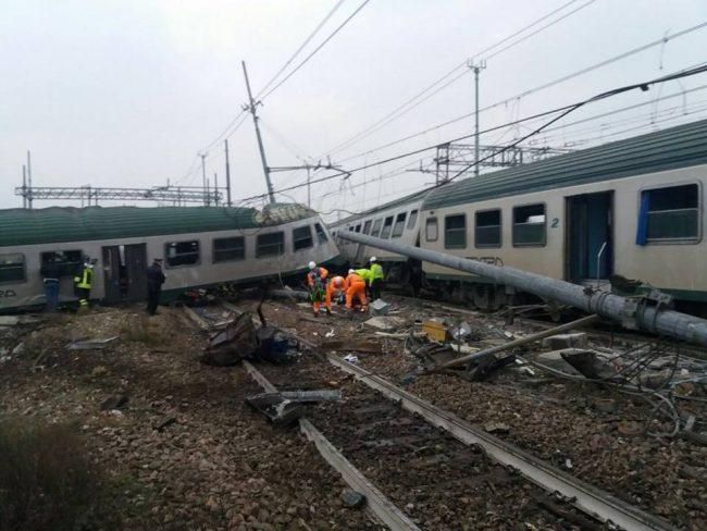 Treno deragliato a Pioltello: