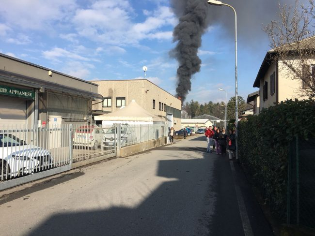 Incendio Bulgarograsso