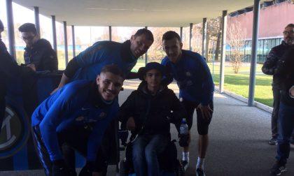 Christian realizza il sogno di incontrare i giocatori dell'Inter