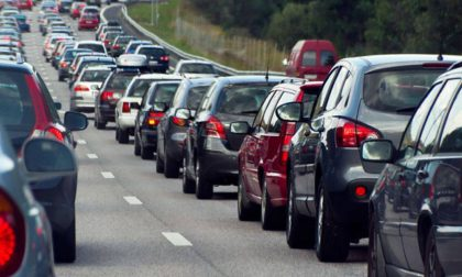 Traffico intenso in Tangenziale Nord e A4