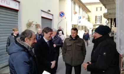 Fabrizio Sala in visita a Vimercate incontra i commercianti