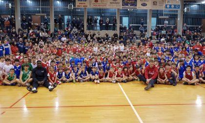 Minibasket con i campioni dell'Olimpia Milano FOTO e VIDEO