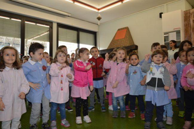 bambini dell'asilo di Birone in Residenza Amica
