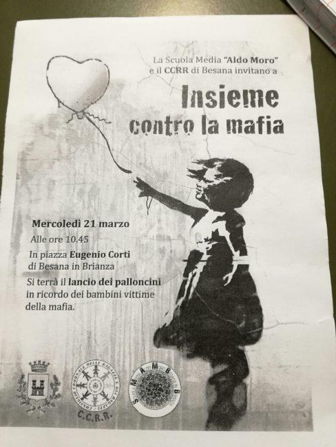 Palloncini in ricordo delle vittime delle mafie