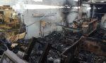 Incendio a Seregno, capannone e veicoli distrutti FOTO