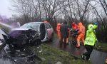 Frontale a Brugherio arrivano 5 mezzi di soccorso e i pompieri FOTO E VIDEO