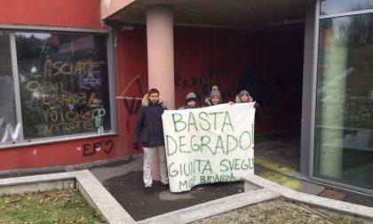 I leghisti ripuliscono il parco Madre Teresa di Peregallo FOTO