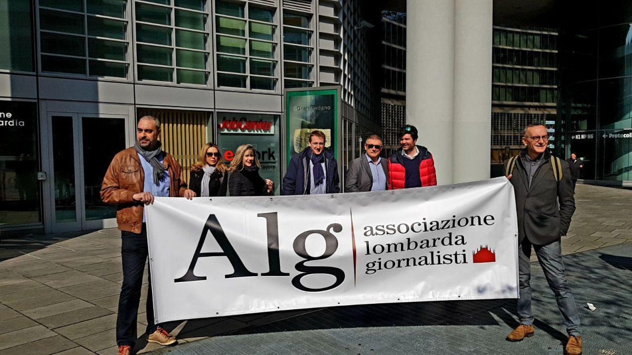 Protesta dei giornalisti della PA