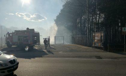 Incendio al parco delle Groane FOTO E VIDEO