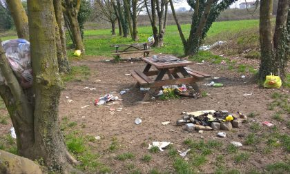 Area pic-nic invasa dai rifiuti e in completo abbandono