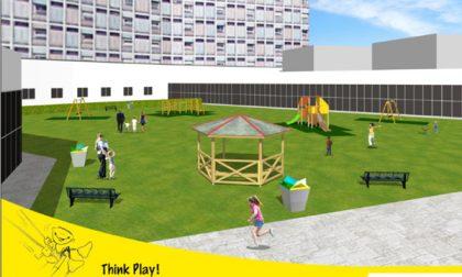 Parco giochi colorato in ospedale
